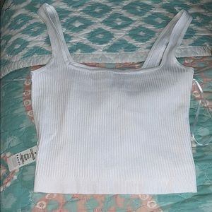 White form fitting crop top